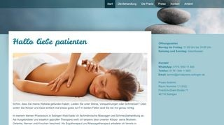 Massage Praxis David Stelzl in Solingen